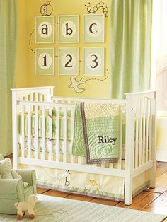 Love the blanket! And I would do a brown crib with less yellow more green. Gender Neutral Nurseries - Nursery Ideas - SLideshow