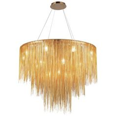 Buy the Avenue Lighting Gold Direct. Shop for the Avenue Lighting Gold Fountain Avenue Wide 18 Light Round Foyer Chandelier with Jewelry Chain and save. 3 Light Chandelier, Led Pendant Lights, Modern Chandelier, Pendant Lighting, Chandeliers, Ceiling Fixtures, Ceiling Lights, Gold Ceiling, Light Fixtures
