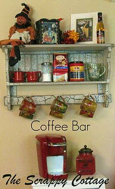 Coffee Bar (1) From: The Scrappy Cottage (2) Follow On Pinterest > Cherrie McCartney