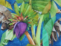 Plátano flor 8 x 10 láminas por LucidPaperDesign en Etsy