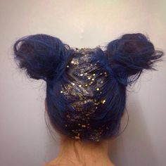 Blue Hair and Glitter anyone? Jazz up your hair for those Festivals. Festival Faces have created many more looks just like this