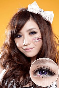 EOS New Adult Violet Circle Lenses (Colored Contacts)