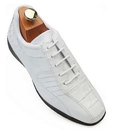 feeb418390c Every man needs at least one pair of alligator shoes for the wardrobe. On  sale today, we have a gorgeous pair of casual white alligator shoes.