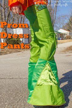 Clothing Refashion: Prom Dress Pants - so cool!