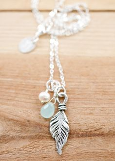 Fine Feather Necklace by Lisa Leonard <3