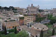 View from Palatine Hill of Capitoline Hill - Forum on right