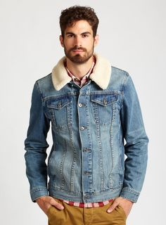 At Burton HQ we're totally into this denim jacket with detachable collar - perfect for the autumn weather...