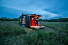 An off-grid, sustainably-built, 340 square feet tiny house on wheels in Ontario, Canada. Built by Greenmoxie.