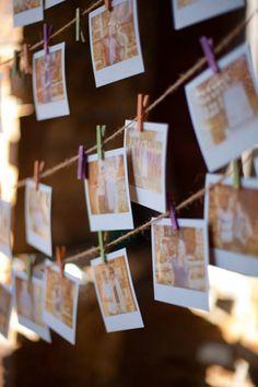 Polaroids op je bruiloft voor bijvoorbeeld de ontvangst van de gasten