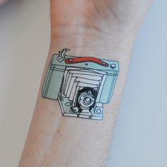 camera tattoo by julia rothman via tatt.ly