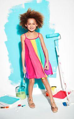 Girls' fashion | Kids' clothes | Rainbow dress | The Children's Place