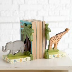 Fantasy Fields Animal Themed Book Ends - W-4834A