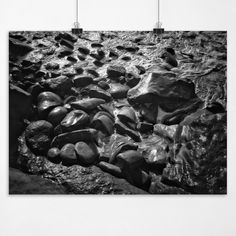 Wet Rocks - Pacific Coast Rocky Beach La Jolla California Fine Art Seascape Photography Print Black And White. Photograph: Monochrome Black and White Digital Infrared Print Type: Acid Free Gallery / Museum Archival Quality Finish Type: Luster / Semi-Gloss Sizes Available (inches): 8x10, 9x12, 11x14, 13x17, 15x20, 16.5x22 .