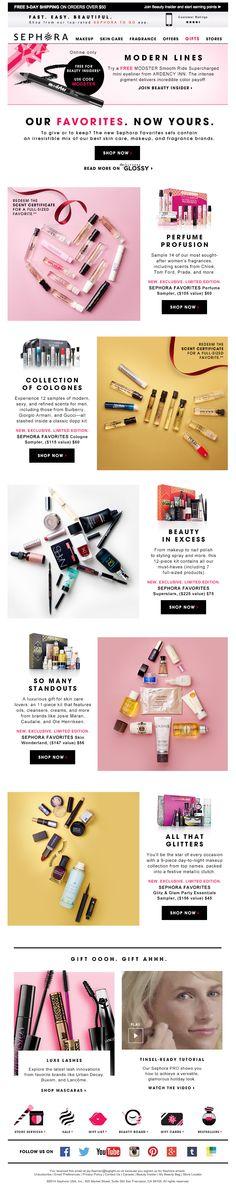 Sephora – Subtle references to Christmas through still life photography // design / digital / commerce / make-up