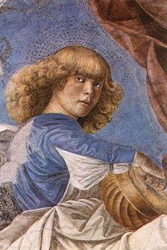 Melozzo da Forlì - Music-making Angel. 1480.