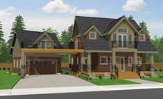 craftsman house | Craftsman Home Designs in Custom Home plan design, house plans and ...