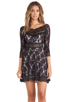 Free People Lacey Affair Dress in Dark Navy