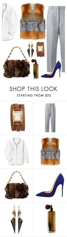 """A Hint of blue."" by schenonek ❤ liked on Polyvore featuring La Mer, Acne Studios, Lacoste, MICHAEL Michael Kors, Michael Kors, Alexis Bittar and Guerlain"