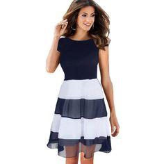 4c074568e401c Patenci Elbiseleri, Balo Elbiseleri, Yazlık Kıyafetler, Shopping,  Aksesuarlar, Bahar, Çizgili