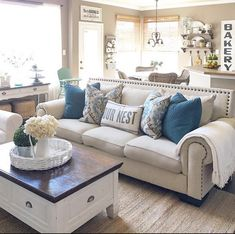 Beautiful farmhouse living room