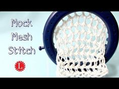 LOOM KNITTING STITCHES Mock Mesh Stitch | Loomahat - YouTube