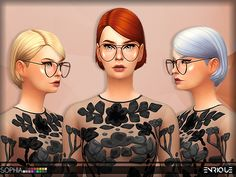 Sophia Hair by Enriques4 at TSR • Sims 4 Updates