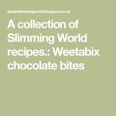 These were described to me as ferrero rochers, they are less like ferrero rochers and more like a chocolate bite hence the name. Slimming World Taster Ideas, Slimming World Recipes Syn Free, Healthy Eating Tips, Healthy Nutrition, Healthy Recipes, Drink Recipes, Slimming Wirld, Vegetable Drinks, Meal Deal