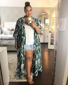 plus size fashion Plus Size Summer Outfits You Can Rock Miami Outfits, Summer Outfits, Rock Outfits, Outfits Plus Size, Curvy Outfits, Fashion Outfits, Fashion Ideas, Fashion Styles, Plus Size Kimono