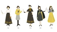 "yesterdayalice: ""Hogwarts Uniforms - House Hufflepuff 1910-1950 more to come, stay tuned!! """