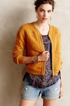 Anthropologie - Jacquard Bomber