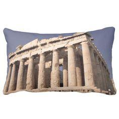 Greek Ruins Throw Pillows