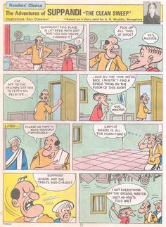 Amar Chitra Katha :: Suppandi the simple - Kri Sha - Picasa Web Albums Exam Quotes Funny, Indian Comics, Diamond Comics, Clean Sweep, Comics Story, Albums, Hilarious, Simple, Picasa