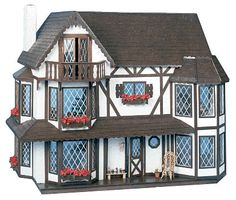 The Harrison - This is my dollhouse that my step-father and I worked on.  I spent 6.5 hours gluing cedar shingles onto the roof!  Hannah has it in her room. Her friends love playing with it, moving things around.