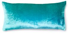 One Kings Lane - Spring into Style - Ombré 7x15 Velvet Pillow, Aqua