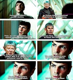 Love it when Spock gets sassy...