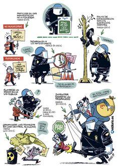 Guía gráfica de sanciones de la 'ley mordaza'