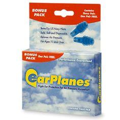 EarPlanes Earplugs, Flight Ear Protection