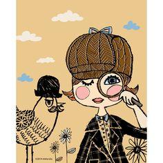 Sherlock Girl Print by Misha Lulu at http://leannalinswonderland.com/