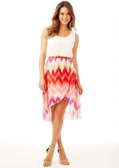 08b80048ed89 Janice Mixed Media Hi-Lo Dress - View All Dresses - Dresses - Clothing - Alloy  Apparel