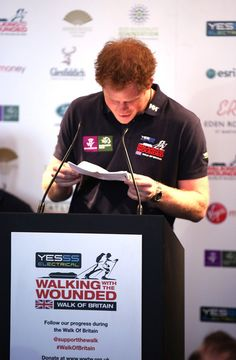 Prince Harry Photos: Walking with the Wounded Launch in London — Part 2