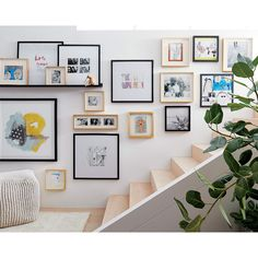 Gallery Wall Staircase, Gallery Wall Bedroom, Gallery Wall Layout, Gallery Wall Frames, Bedroom Wall, Frames On Wall, Gallery Walls, Kitchen Gallery Wall, Eclectic Gallery Wall