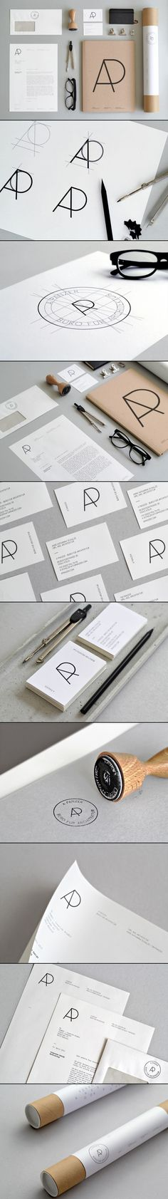 """Like the Logo A Panzer, Büro für Architektur Brand Identity via Design made in Germany."" Stamp!"