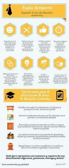 eLearning: normas de comportamiento en foros #infografia #infographic #education