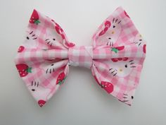 Hello Kitty Hair Bow by ThePolishedPrincess on Etsy, $7.00