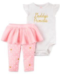 c0cfd602957 Carter s 2-Pc. Daddy s Princess Bodysuit   Tutu Pants Set