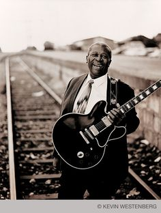 "B.B King with""Lucille"" ~ King of the Blues ~ Rest in Peace ~ Note: BB stood for ""Blues Boy"", a nickname he received while he was a DJ in his youth. ~ ALW"