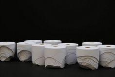 modelling toilet paper rolls... brilliant