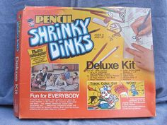 Shrinky Dinks. Oh how I loved watching them curl up in the oven!