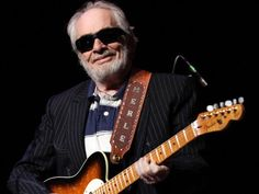 Country music legend Merle Haggard with his famous Fender Tuff Dog Telecaster.