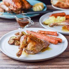 Roasted Duck Orange Wedges, Garlic Head, Roast Duck, Duck Recipes, Garlic Paste, Spring Party, Roasting Pan, Delish, Good Food